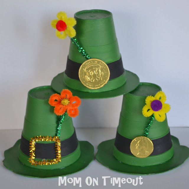 Create Cute Leprechaun Hats st patricks day