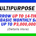 GSIS Multipurpose Loan (Borrow UP TO 14 TIMES your basic monthly salary)