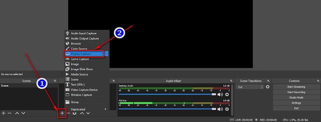 Chọn chế độ quay màn hình để phát trực tiếp trên Youtube