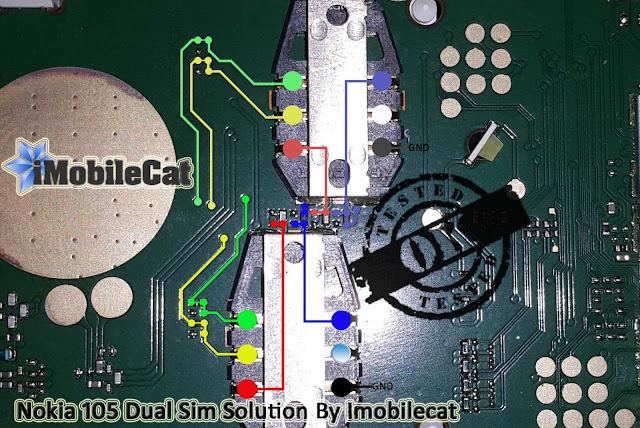 Microsoft Nokia 105 RM1133 Dual Insert Sim Final Solution