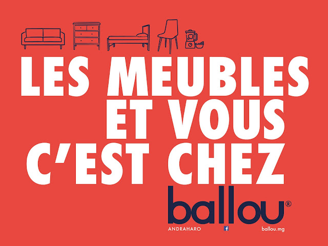 Les meubles et vous c'est chez Ballou, affichage urbain, publicité