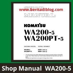 Shop manual wa200-5 wa200-5pt wheel loader komatsu