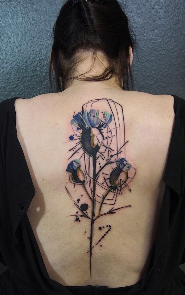 Hello Art Lovers Today We Are Sharing Some Interesting Tattoo Ideas That A Woman Can Flaunt On Her Back Spine These Tattoos Mixture Of Colorful
