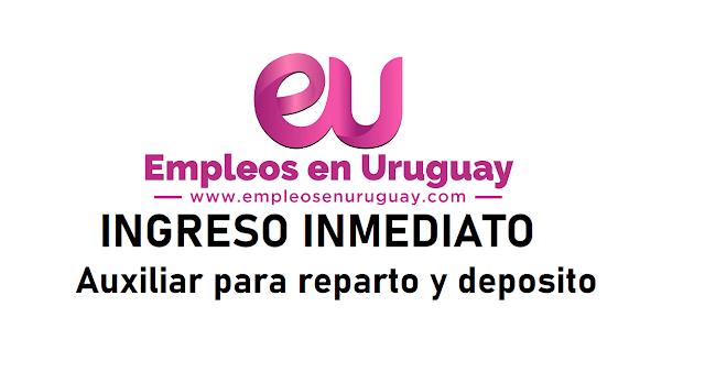 INGRESO INMEDIATO - Auxiliar para reparto y deposito