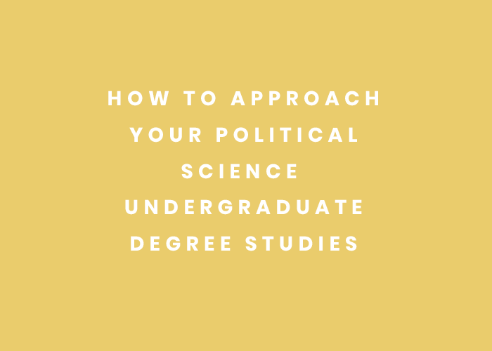 how to stud political science as an undergrad student