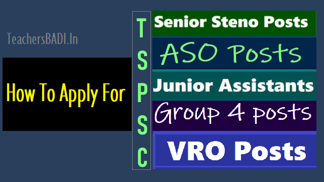 how to apply for tspsc vro, aso, group 4, junior assistant,steno posts recruitment 2018,tspsc vro, aso, group 4,junior assistant,steno posts recruitment 2018 online application,apply online for tspsc vro,aso,group 4,junior assistant,steno posts recruitment 2018