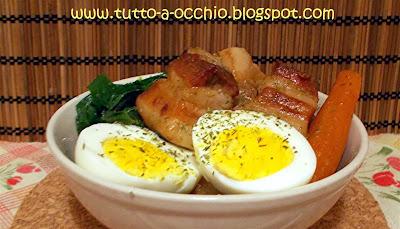 Buta no Kakuni (pancetta brasata alla giapponese)