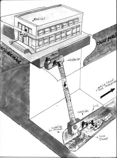 El plan de escape del robo al Banco Rio en Acassuso