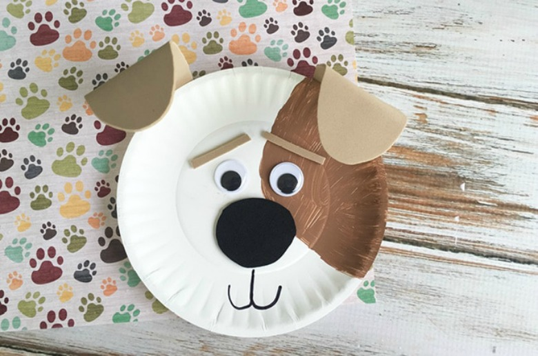Paper plate animals dog craft