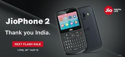 Jio Phone 2 flash sale