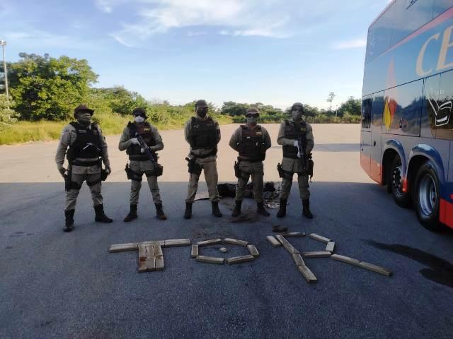 Grávida é presa em barreira sanitária com 30 kg de maconha, em Conquista