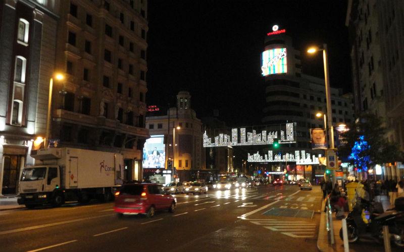 La Gran Via de Madrid, la arteria principal de la ciudad