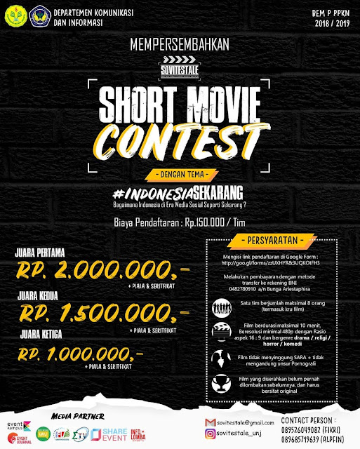 Contest Short Movie SOVITESTALE 2018