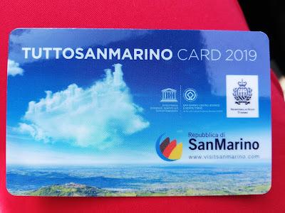 la tessera sconti di San Marino