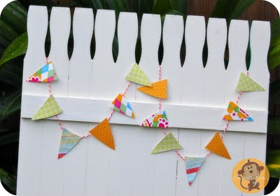 Glued together, these pain sticks make for the cutest picket fence decoration.