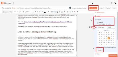Cara Membuat Postingan Terjadwal di Blog