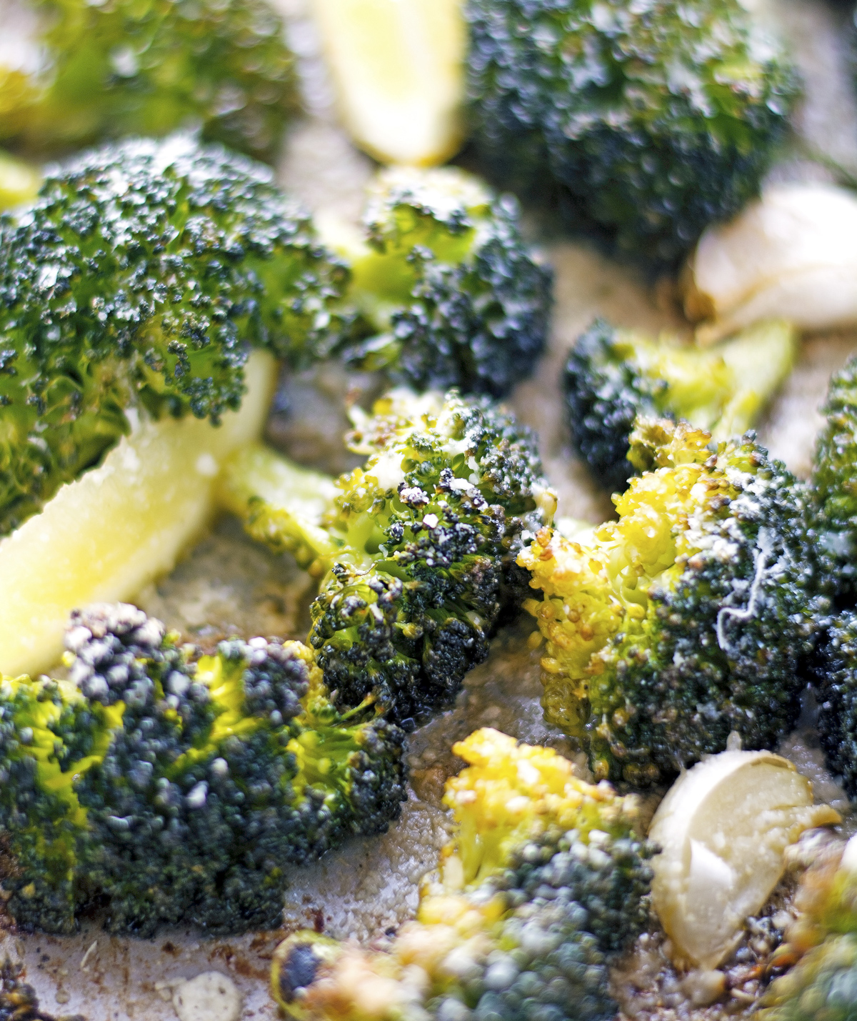 Parmesan Lemon Crispy Broccoli