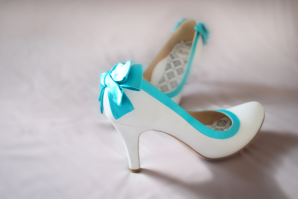 Turquoise Wedding Heels: Bianca Salon, Spa & Bridals Care: Fun & Colorful Wedding Shoes