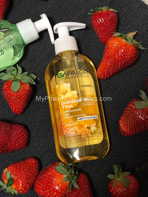 Sữa rửa mặt Garnier dạng gel chiết xuất từ mật ong hoa màu vàng