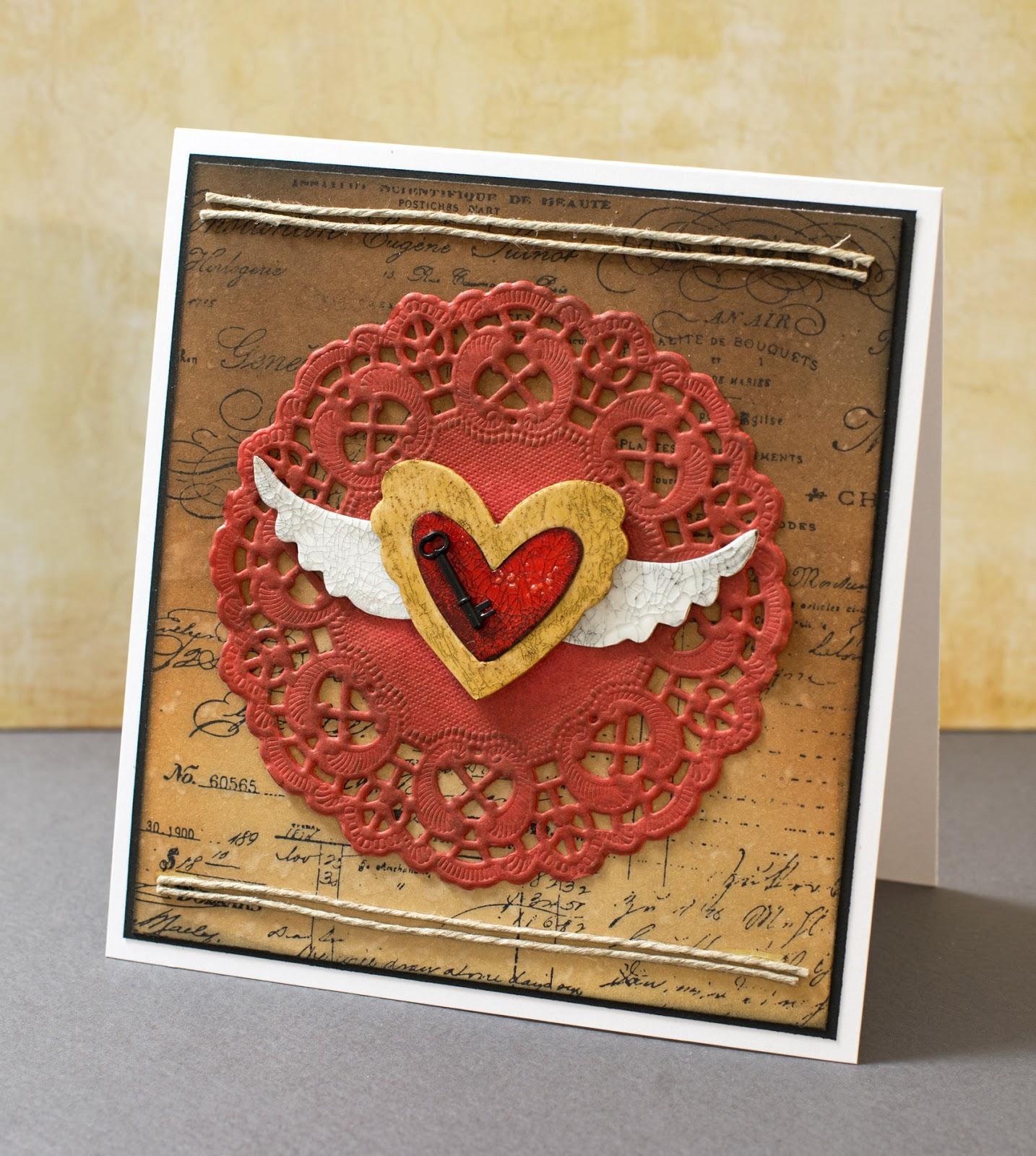 Cardmaking: Card for October '14 MMCC: Key to my heart