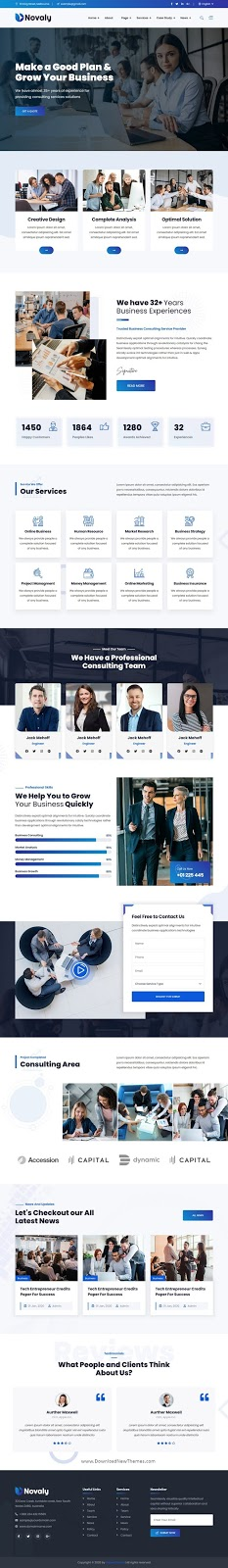 Business Consulting Website Template