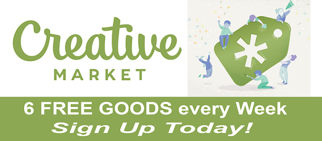 Annie Lang suggests you Sign Up today and get 6 free goods every week from Creative Market to use for all your creative digital projects.