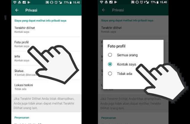 Cara Menyembunyikan Foto Profil WhatsApp dari Orang lain
