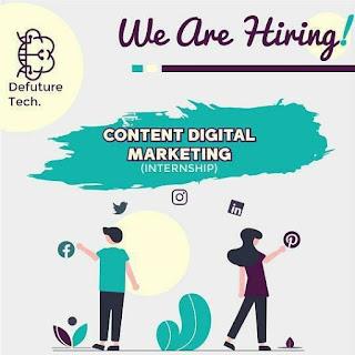 Lowongan Kerja Frontend Developer, Content Marketing, Bussiness Development