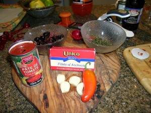 Ingredients For Sven's Pasta Sauce Recipe