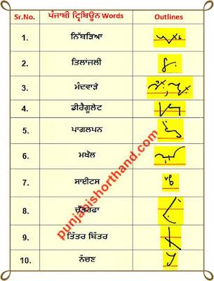 26-june-2020-punjabi-shorthand-outlines