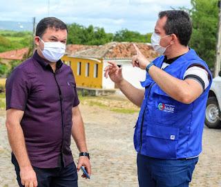 Prefeito Flávio de Beroi participa de Ação de Saúde no Serrote dos Bezerras.