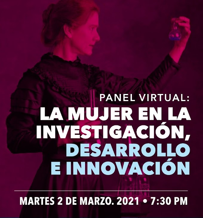 """Panel Virtual: """"La Mujer en la Investigación, Desarrollo e Innovación"""""""