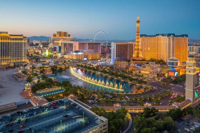 Beco central da Strip de Las Vegas