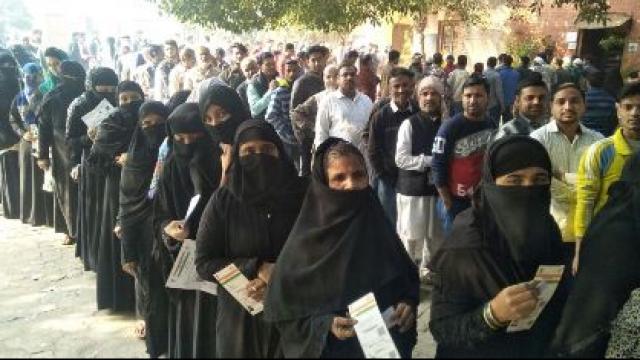 Sambhal mein bumper voting