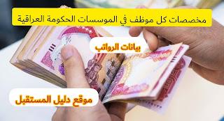 سلم رواتب  الموظفين في العراق مع حجم الاستقطاعات من رواتب