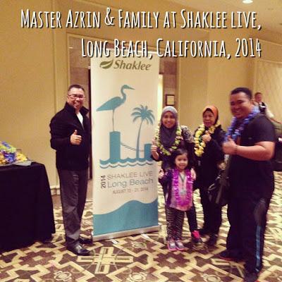 Master Azrin Mohd bersama family di Shaklee Live 2014, Long Beach, California