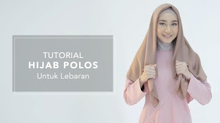 Cara Memakai Hijab Polos untuk Lebaran Ala Hijup