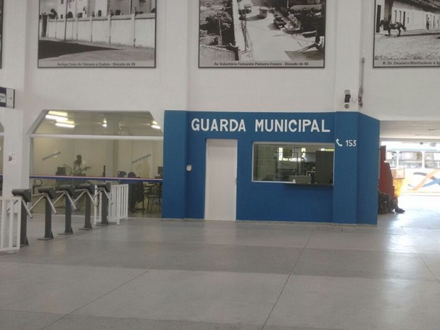 Lojistas fazem 'vaquinha' para ter posto de policiamento da GCM 24h no Terminal Central de Mogi das Cruzes
