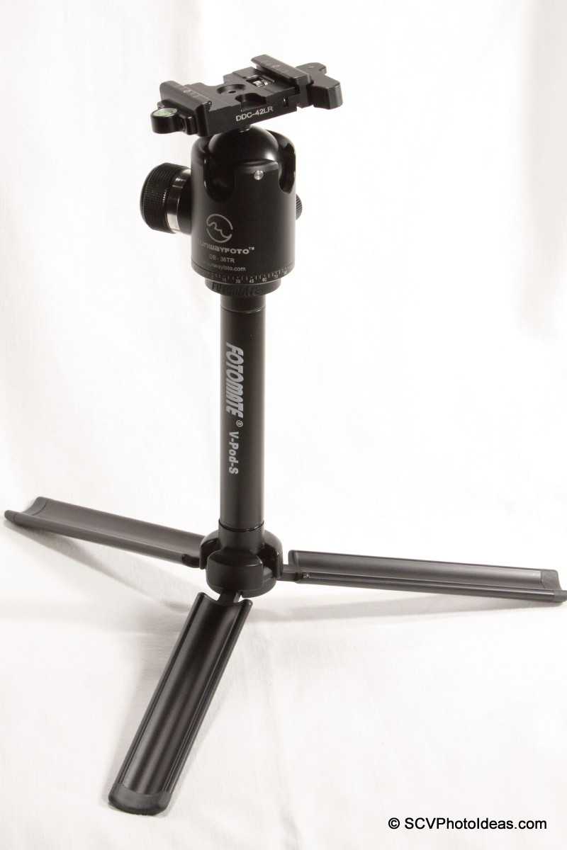 Sunwayfoto DB-36TRLR ball head on Fotomate V-Pod-S center column