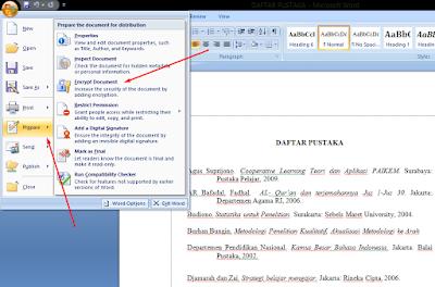 Cara Memberikan Password Di Microsoft Word