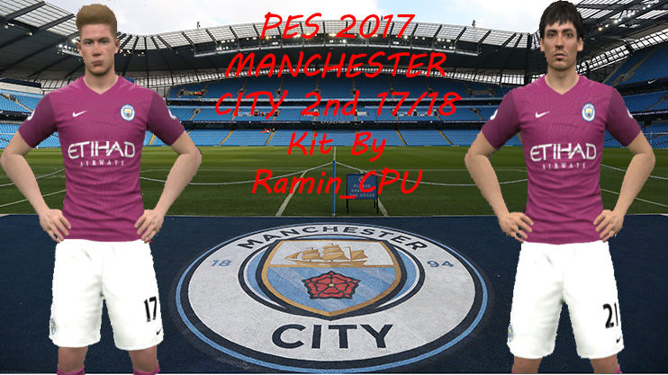 PES 2017 Manchester City 17/18 2nd Kit by Ramin_CPU