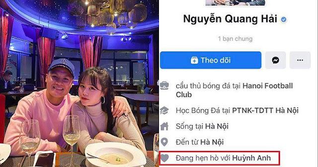Quang Hải công khai hẹn hò với Huỳnh Anh, chàng thể hiện tình cảm sâu đậm với nàng