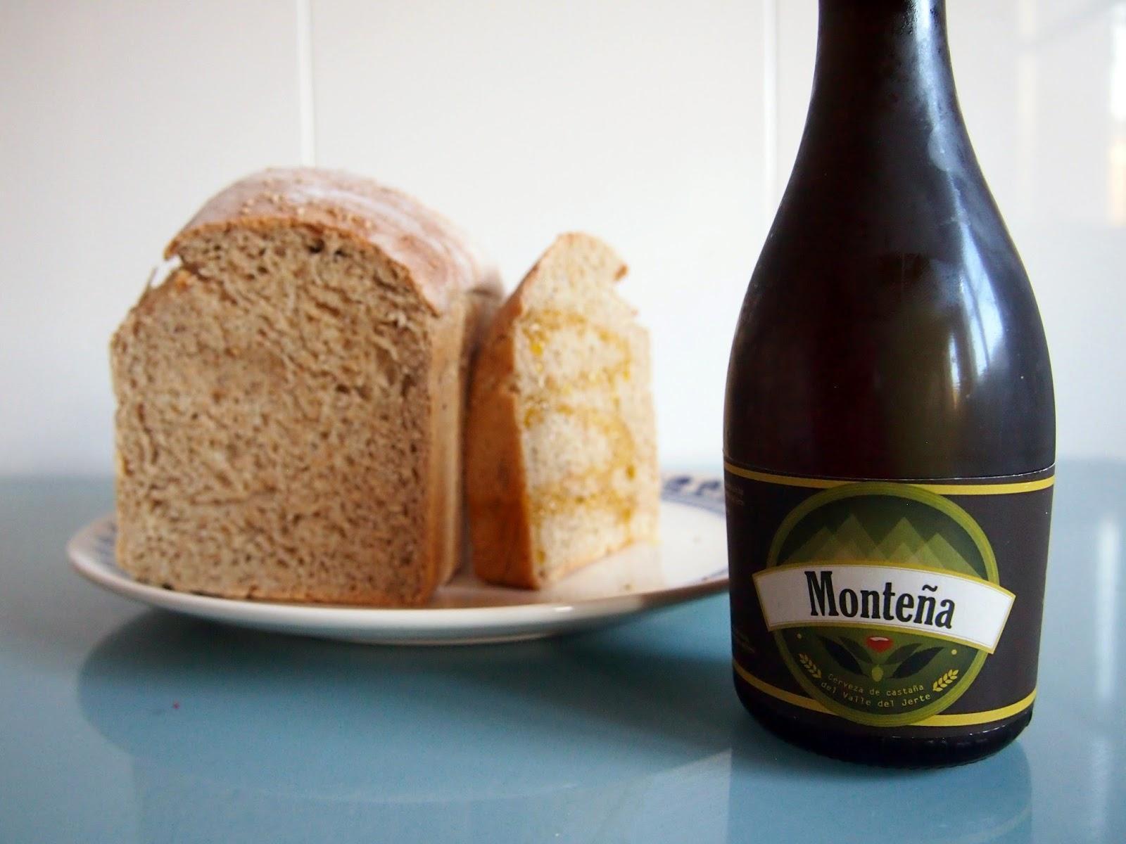 pan de molde de cerveza del jerte