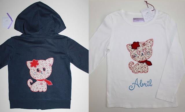 conjunto sudadera y camiseta gato