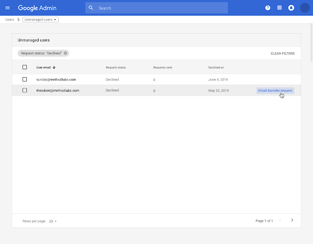 Admin console improvements: API client access, GSM apps, admin roles, domain management, and unmanaged users 5