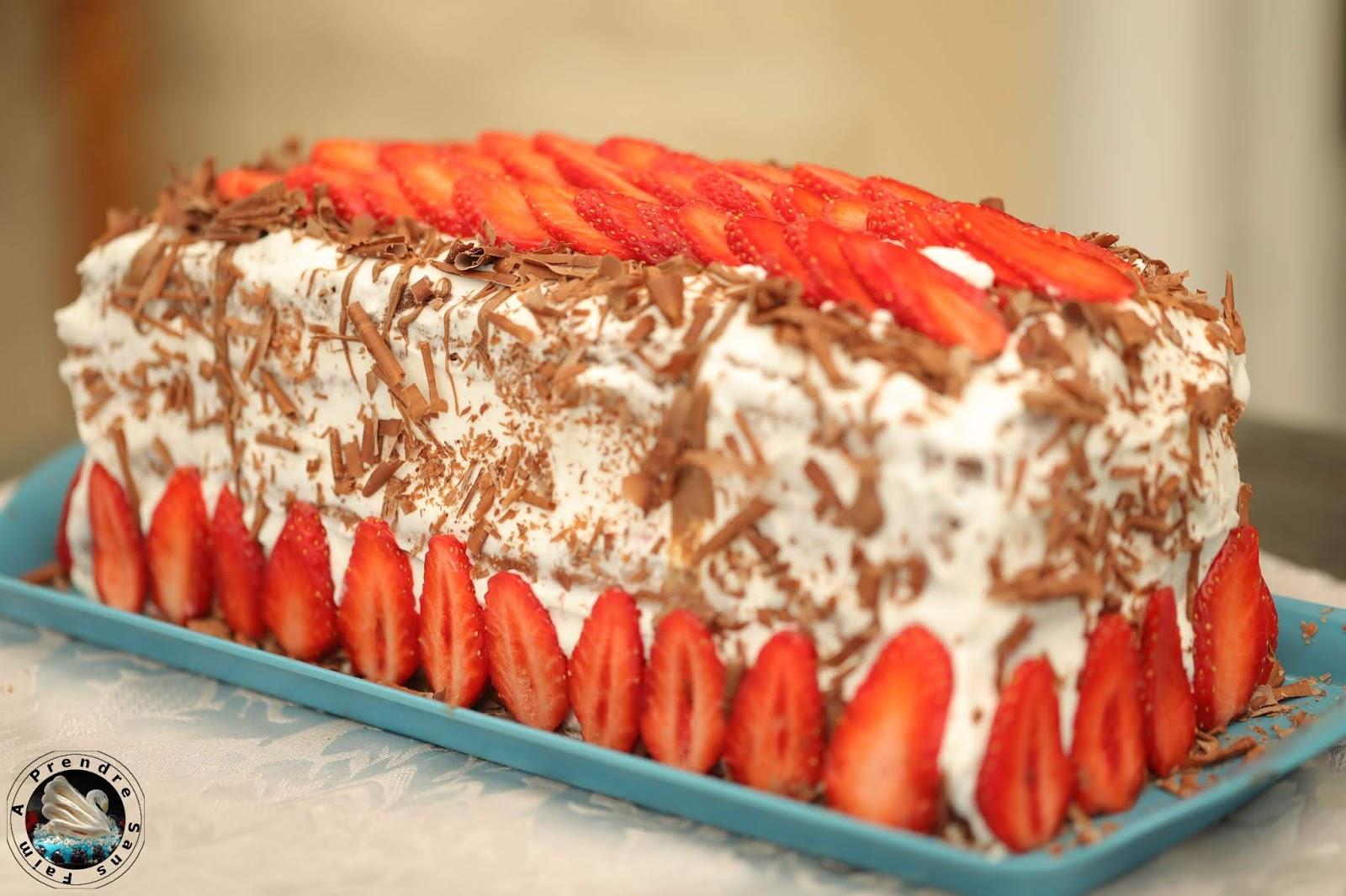 Gâteau brésilien fraises chocolat