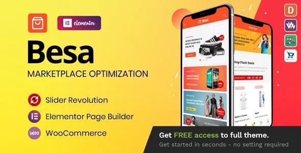 Besa – Elementor Marketplace WooCommerce Theme
