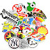 10% off for Zapal's Waterproof Graffiti Stickers for Laptop Luggage