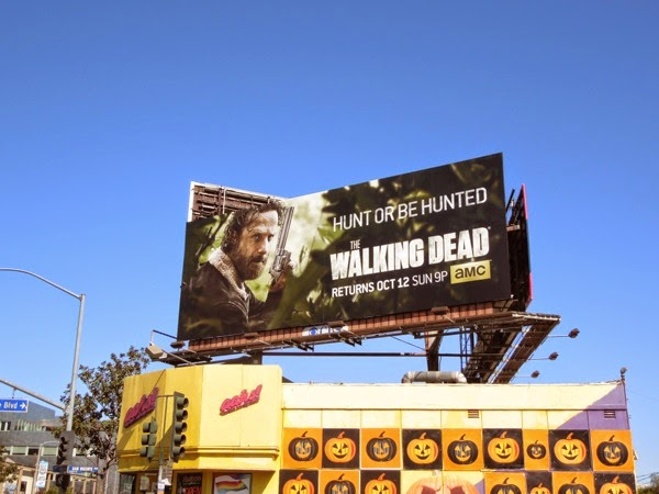Rick Grimes Walking Dead season 5 billboard