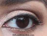 Shimmery neutral brown EOTD with Too Faced Chocolate Bar